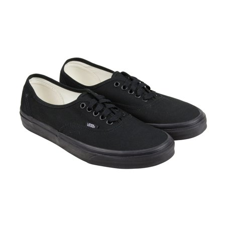 Vans - Vans Authentic Mens Black Canvas Lace Up Sneakers Shoes - Walmart.com bdbd62ab3