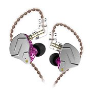 KZ ZSN Pro 1BA+1DD Hybrid in Ear Earphones Monitor Running Sports Headphones HiFi Bass Metal Wired Earbuds (No Mic, Purple)
