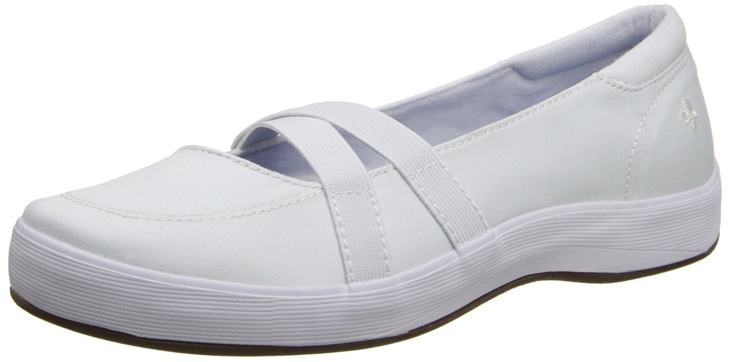 Grasshoppers Womens Juniper Closed Toe Slide Flats by Grasshoppers