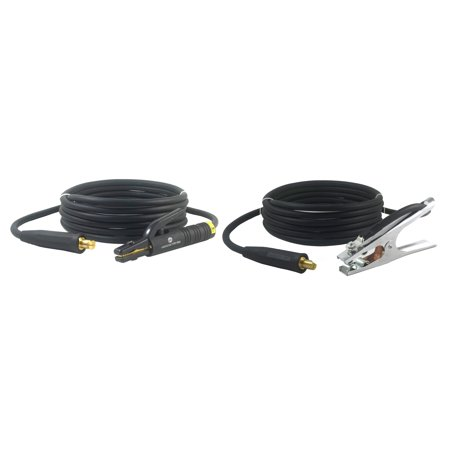 Awg Lead (300 Amp Welding Leads Assembly Set - LC40 Connector - #1 AWG cable (15 FEET EACH LEAD))