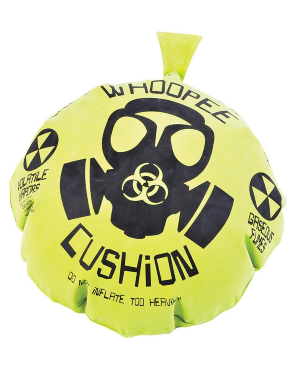 "17"" Giant Gas Mask Biohazard Green Yellow Rubber Whoopie Woopee Cushion Joke Toy by Rhode Island Novelty"