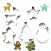 5pcslot christmas diy cookie cutter fondant biscuits molds baking moulds stainless steel metal frame - Metal Christmas Cookie Cutters