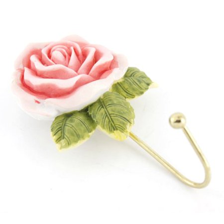 Beautiful Pink Rose Home Decor Wall Door Hanger for Small Accessories - image 1 de 3