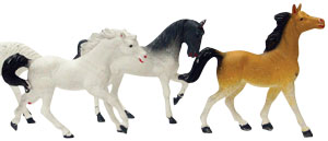 6pk Horses Asst Cake Adornments (4 inch)