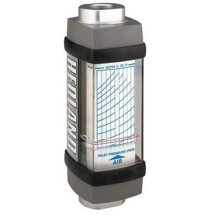 HEDLAND H671A-050 Flowmeter, SCFM / L/SEC 5.0 - 50 / 3-22