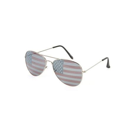 Gravity Shades USA Lens Theme Aviator Sunglasses - image 1 of 2
