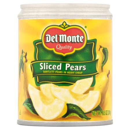 Del Monte Sliced Pears in Heavy Syrup, 8.5 oz