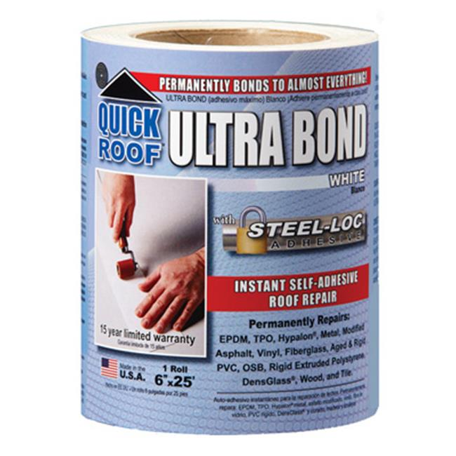Ultra Bond Roof Repair Self Adhesive White 6 Quot X 25