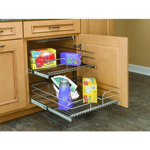 Rev-A-Shelf  5WB2-2122  Pull Out Organizers  5WB  Base Cabinet Organizers  Shelves  ;Chrome