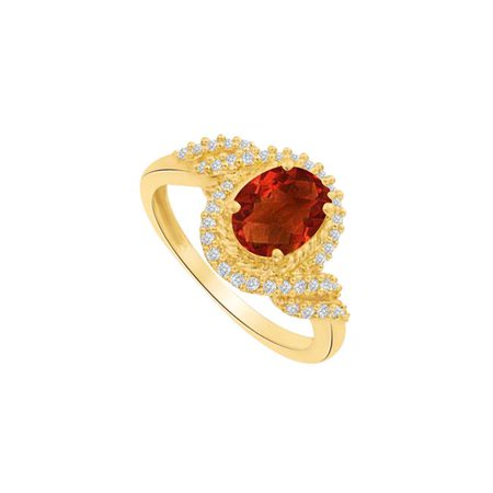 1.50 CT 925 Sterling Silver Striking Red Garnet & Cubic Zirconia Ring, Size 6 - image 1 of 1
