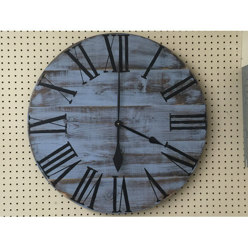 Essex Hand Crafted Wood Products Oversized 28'' Gregory Painted Wood Wall Clock