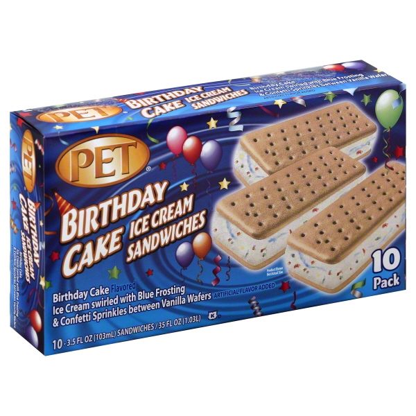 Incredible Dean Foods Pet Ice Cream 10 Ea Walmart Com Walmart Com Funny Birthday Cards Online Sheoxdamsfinfo