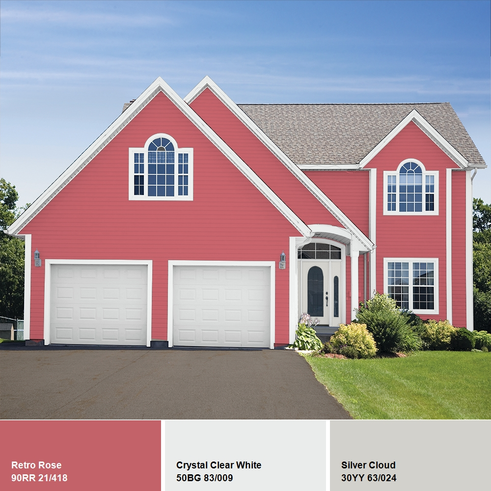 Glidden High Endurance Plus Exterior Paint and Primer, Retro Rose ...