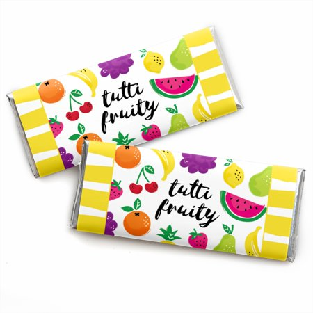 Tutti My Frutti (Tutti Fruity - Candy Bar Wrappers Frutti Summer Baby Shower or Birthday Party Favors - Set of)