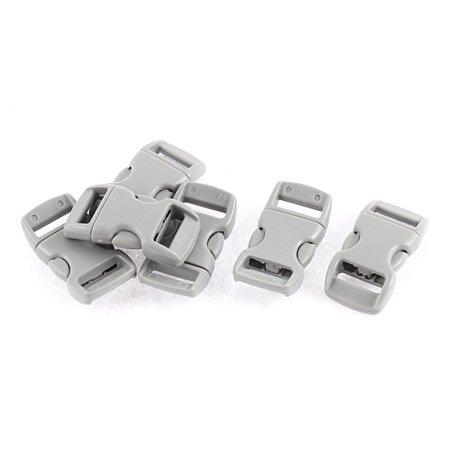 Unique Bargains 6 Pcs Plastic Curved Quick Side Release Buckles for 11mm Webbing Strap