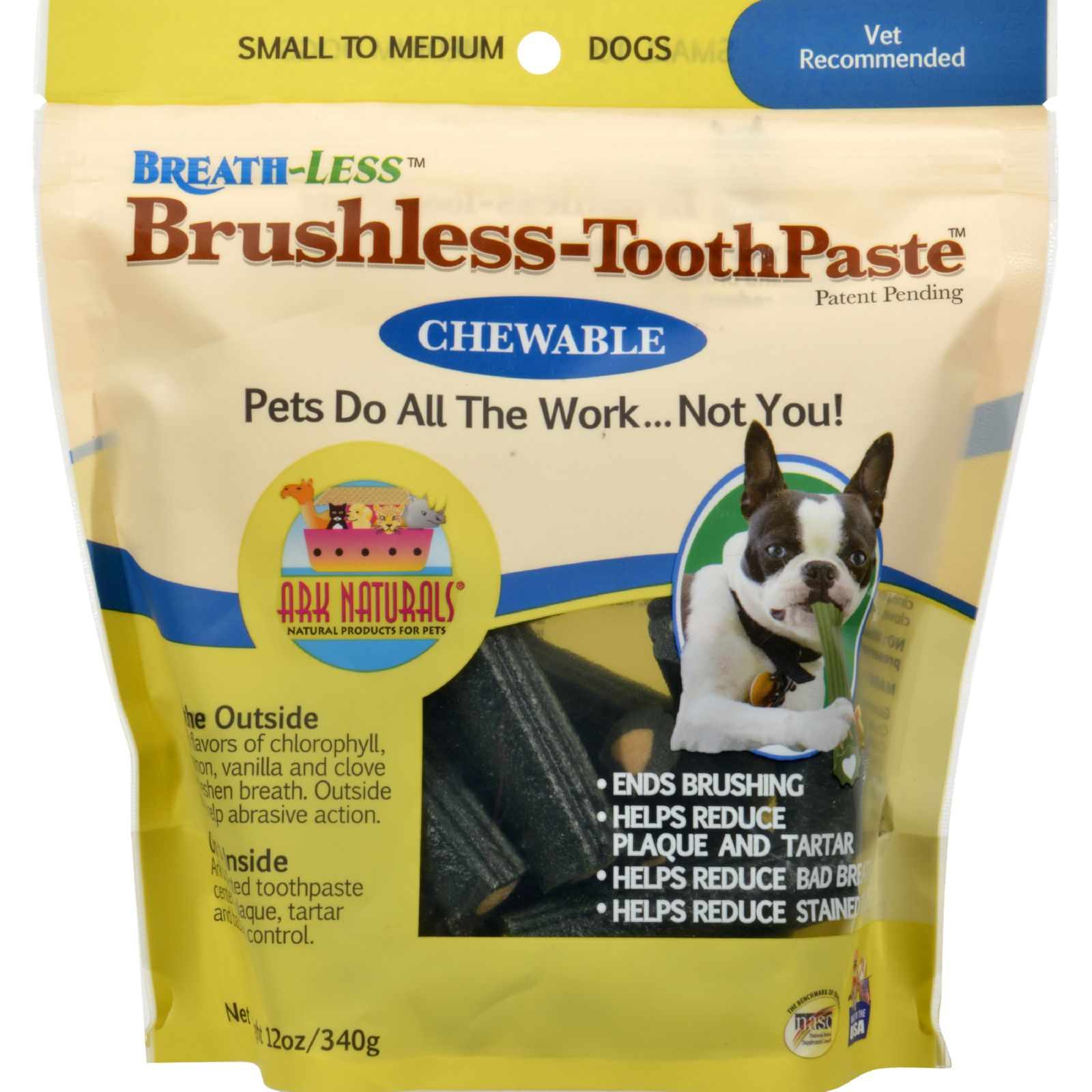 Ark Naturals Breath-Less Brushless Toothpaste for Small to Medium Dogs, 12 Oz
