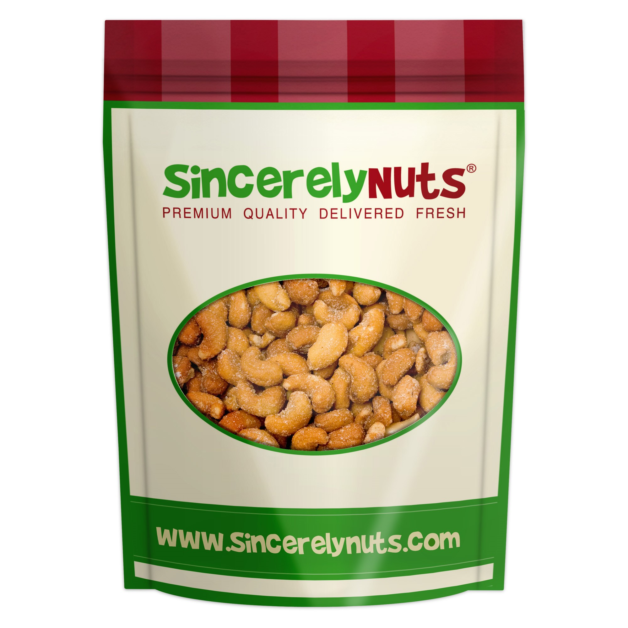 Sincerely Nuts Cashews, Honey Roasted, 5 lb