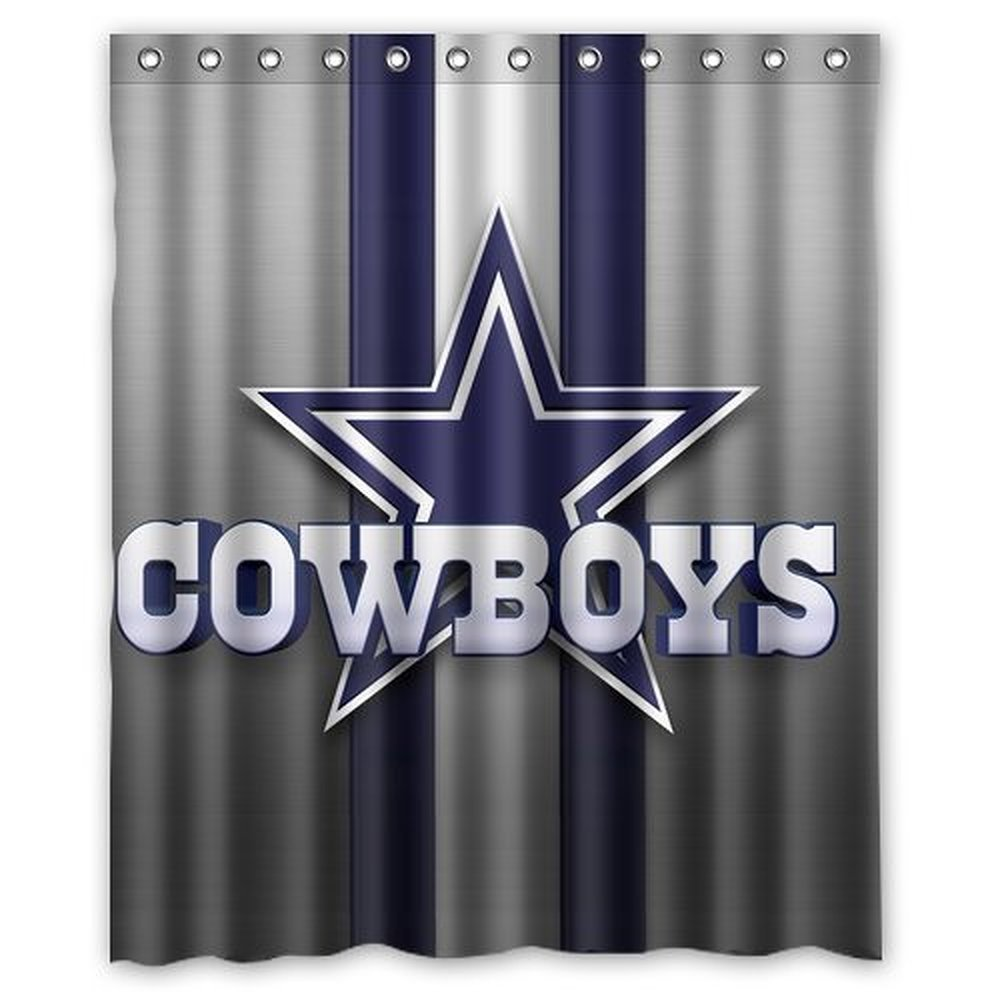 DEYOU Dallas Cowboys Shower Curtain Polyester Fabric Bathroom Shower Curtain Size 60x72 inches