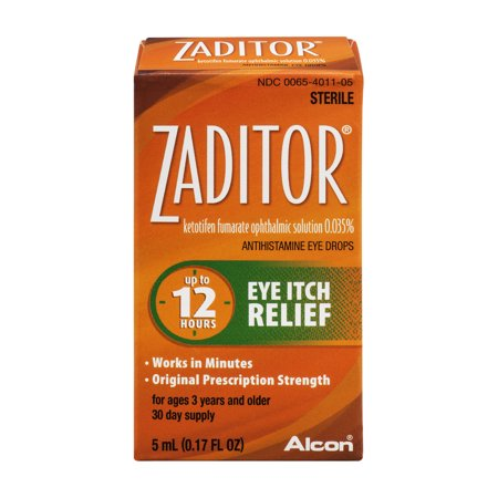 Zaditor Antihistamine Eye Drops  0 17 Fl Oz