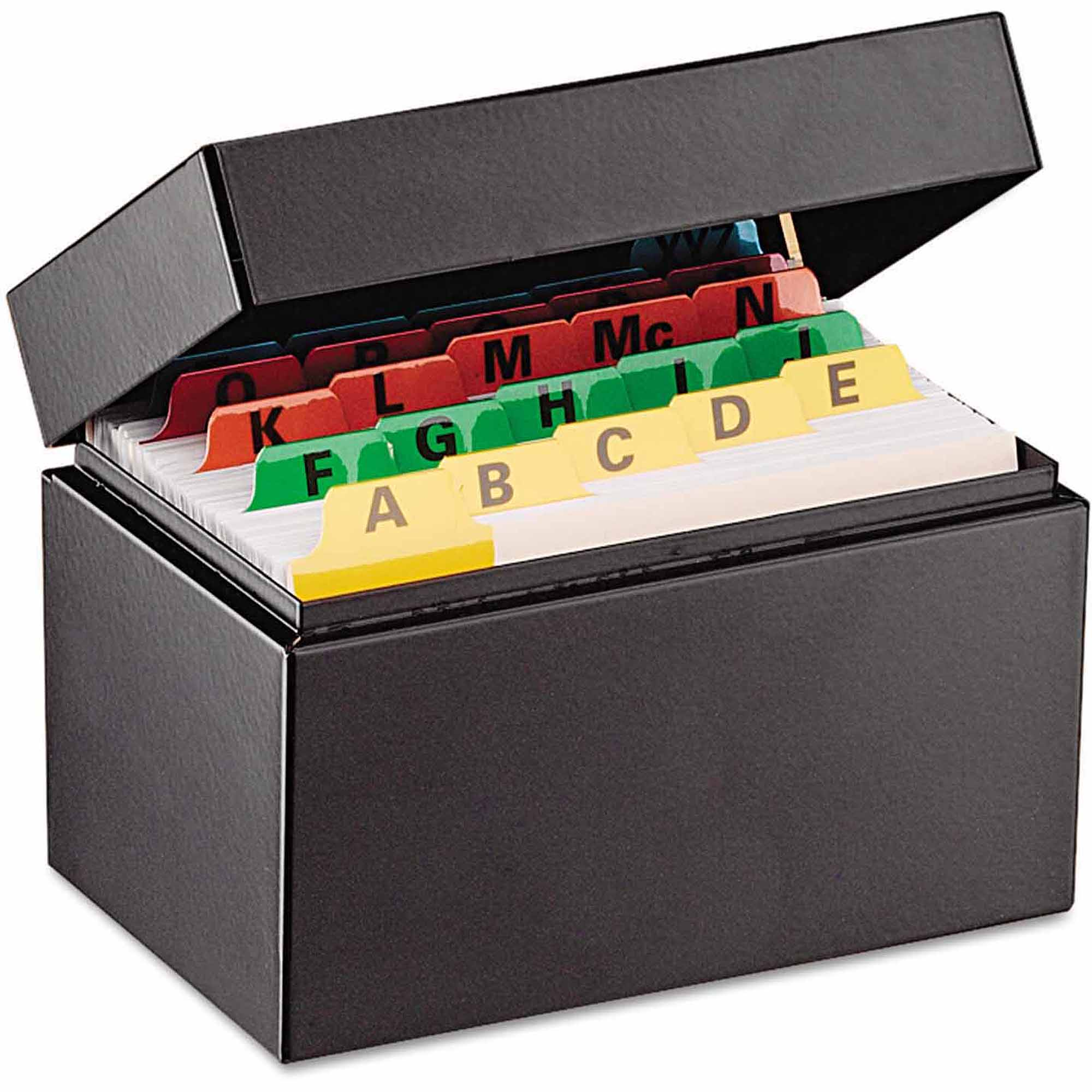 "SteelMaster Index Card File, Holds 300 3"" x 5"" cards"