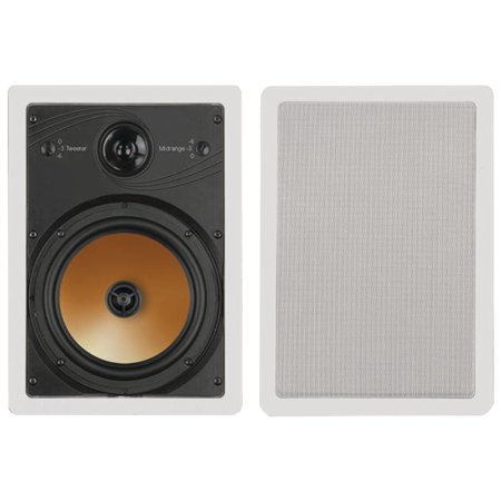 Bic America Ht8w 8   3 Way Acoustech Series In Wall Speakers