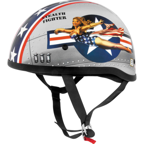 Skid Lid Original Motorcycle Half Helmet Black MD//Medium