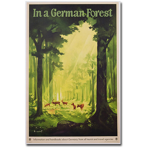 "Trademark Art ""In a German Forest, 1935"" Canvas Wall Art by Jupp Wiertz"
