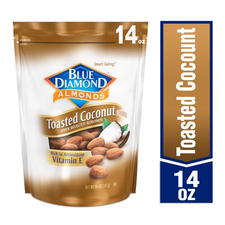 Blue Diamond Toasted Coconut Oven Roasted Almonds 14 oz. Bag Almond Toasted Toffee