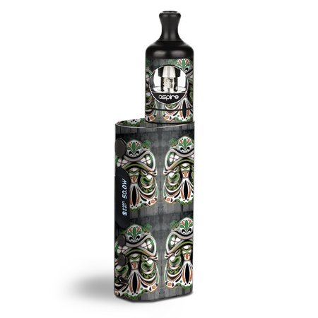 - Skin Decal Vinyl Wrap for Aspire Zelos 50W starter Kit Vape stickers skins cover / Tiki Faces