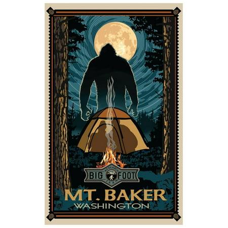Mt Baker Washington Travel Art Print Poster by Paul A. Lanquist (12