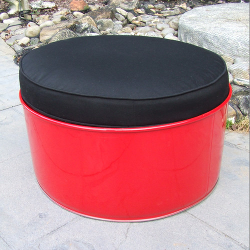 Drum Works Furniture Loft Ottoman with Cushion