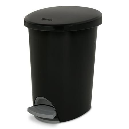 Sterilite 2.6 Gal./9.8 L Ultra StepOn Wastebasket, Black