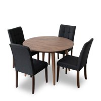 Mid-Century Modern Charlotte Dining Table Liam Dining Chair Set (5 Pieces)