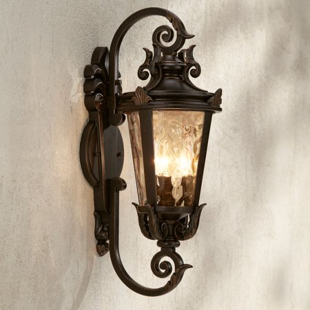 John Timberland Outdoor Wall Light Fixture Bronze Scroll 21 1/2