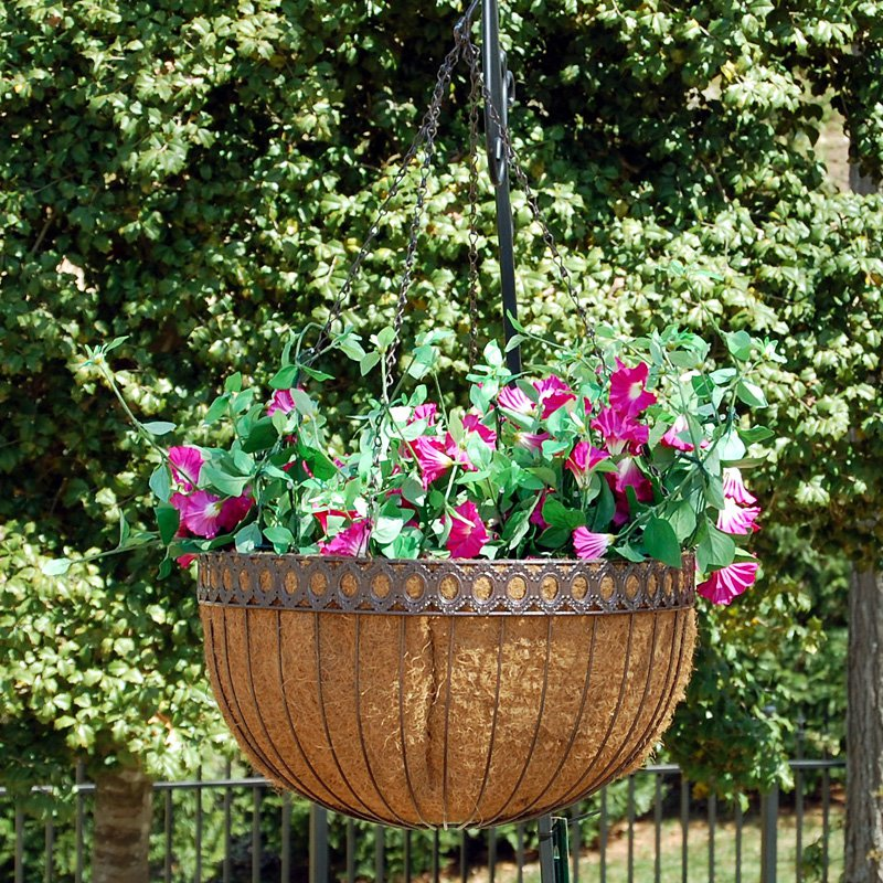 Griffith Creek Designs 9115 Victorian 16 inch Hanging Basket Hammered Bronze