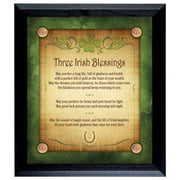 American Coin Treasures Three Irish Blessings with 4 Lucky Irish Pennies Wall Framed Memorabilia