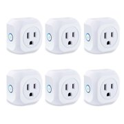 KOOTION Smart Plug 6Pack Wifi Enabled Mini Outlets Smart Socket, Compatible with Alexa & Google Assistant, No Hub Required, Timing Outlet Remote Control your Devices from Anywhere