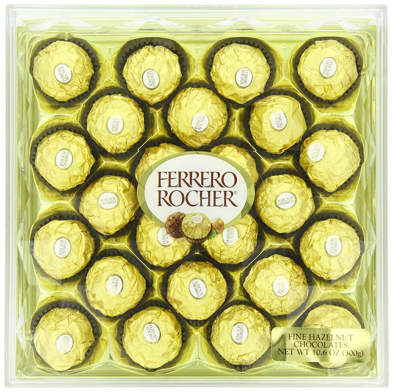 Ferrero Rocher 24 Piece Diamond Gift Box, 10.6 Oz