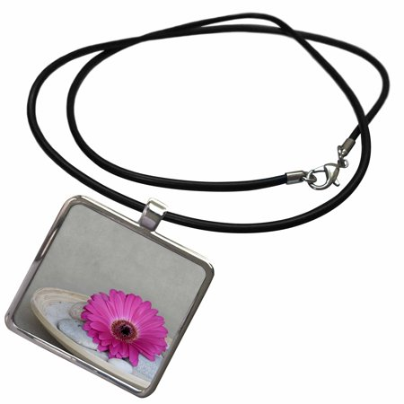 Regency Bowl Pendant (3dRose Gerbera daisy in bamboo bowl - Necklace with Pendant (ncl_263028_1) )