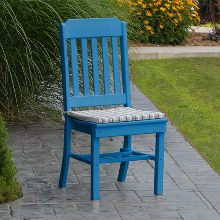 A & L Furniture Poly Traditional Outdoor Dining Side Chair