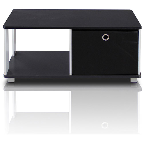 Furinno 99954BK/BK Coffee Table with Bin Drawer