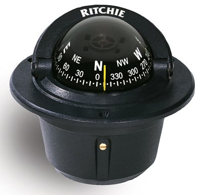 Click here to buy Ritchie F-50 Outdoor Mounting Hole Explorer Marine Compass Flush Mount Black.