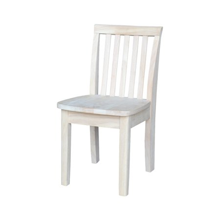 International Concepts Mission Kids' Chair, (Unfinished Desk Chair)