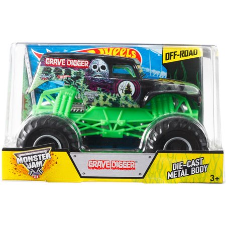 Hot Wheels Monster Jam 1 24Th Grave Digger Die Cast Truck