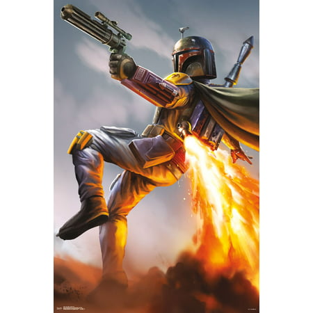 - Trends International Star Wars Boba Fett Wall Poster 22.375