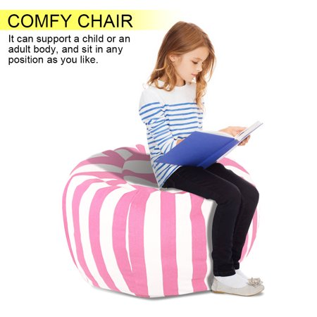 Ejoyous Kids Stuffed Animal Storage Bean Bag Chair with Extra Mental Zipper and Carrying Handle, storage bean bag - image 5 de 7