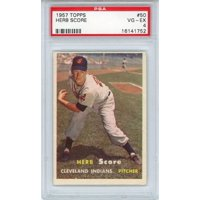 Herb Score Cleveland Indians 1957 Topps #50 PSA 4 Card - Topps