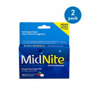 MidNite Drug-free Sleep Aid Chewable Tablets, Cherry Flavor, 30 ct