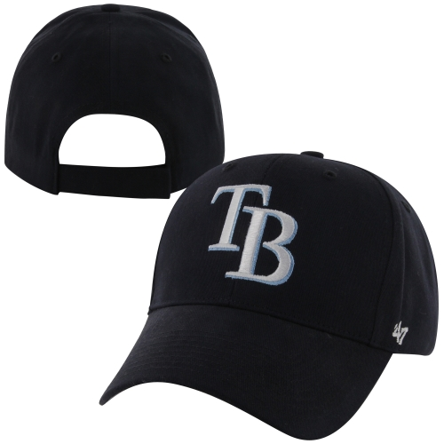 '47 Brand Tampa Bay Rays Youth Basic Adjustable Hat - Navy Blue - OSFA