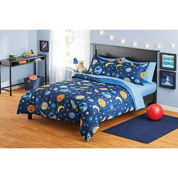 Your Zone Space Bed In A Bag Coordinating Bedding Set Walmart Com Walmart Com
